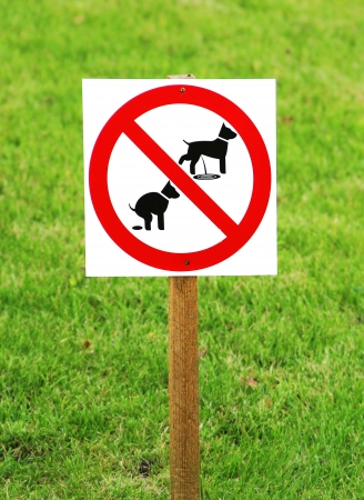 No dog pooping and pissing sign Stock Photo - 17230193