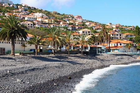 Strand in Santa Cruz, Madeira, Portugal Standard-Bild