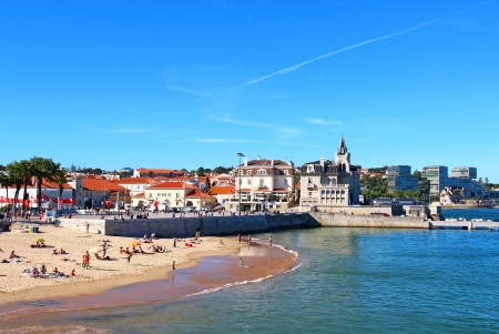 Cascais beach, Lisbon, Portugal Stock Photo