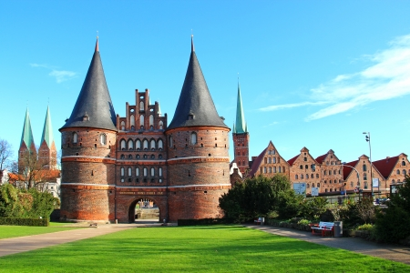 Holsten Gate, Lubeck old town, Germany
