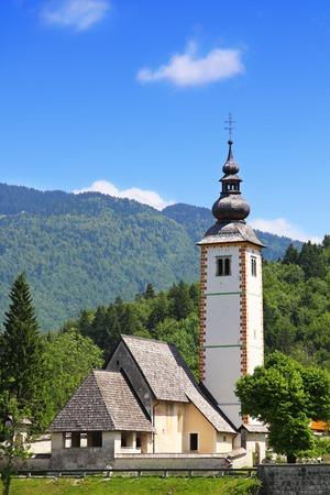baptist: Church of St  John the Baptist in Ribcev Laz, Bohinj Lake, Slovenia