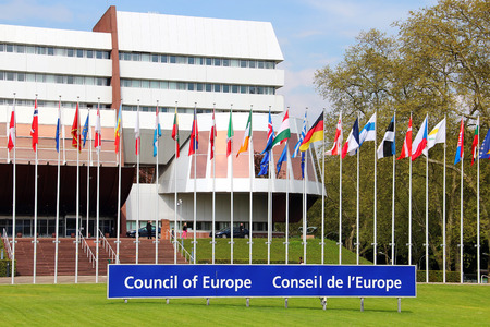 parliamentary: STRASBOURG, FRANCE - MAY 6, 2013: Palace of Europe - the building hosts Parliamentary Assembly of the Council of Europe since 1977 Editorial