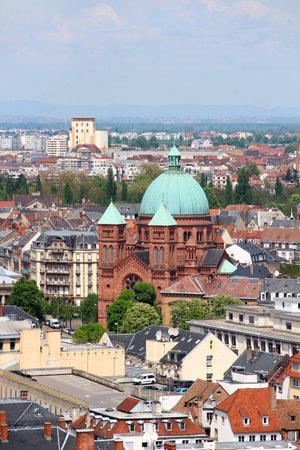 jeune: Strasbourg old town and Saint-Pierre-le-Jeune (St. Peter Editorial