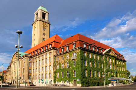 public house: Spandau district Town Hall (Rathaus Spandau), Berlin, Germany Stock Photo