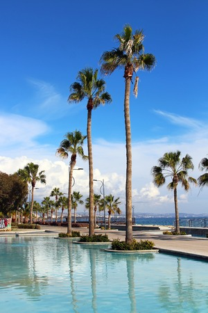beach front: Molos Promenade at the beach front in Limassol, Cyprus