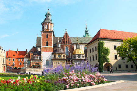 cracovia: Wawel Cathedral, the part of Wawel Castle complex in Krakow, Poland