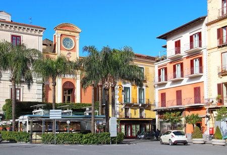 sorrento: Tasso square in the center of Sorrento, Campania region, Italy Editorial