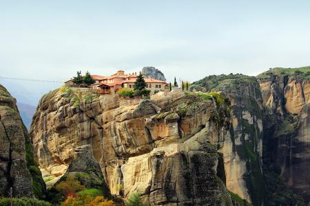 kalampaka: Meteora Rocks and Monasteries Greece Stock Photo
