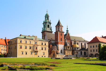 cracovia: Wawel Cathedral the part of Wawel Castle complex in Krakow Poland Editorial
