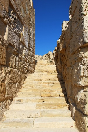 limassol: Old wall ruins in Kourion, Limassol, Cyprus