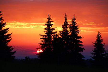 zakopane: Beautiful sunset in Tatra mountains, Zakopane, Poland