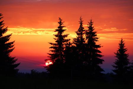 zakopane: Beautiful sunset in Tatra mountains, Zakopane, Poland