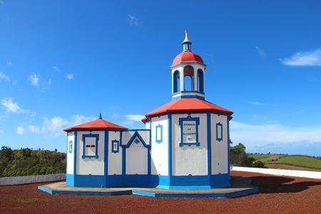 our lady: Chapel of Our Lady of the Holy Mount Ermida de Nossa Senhora do Monte, Agua de Pau, Sao Miguel island, Azores, Portugal Stock Photo