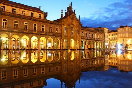 religious building: Republic square (Praca da Republica) and Igreja da Lapa in Braga, Portugal