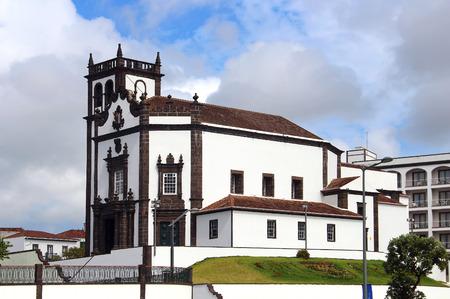 religious building: Church of Sao Pedro (St. Peter), Ponta Delgada, Azores, Portugal Stock Photo