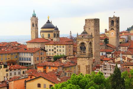 Medieval upper town of Bergamo, Lombardy, Italy 版權商用圖片