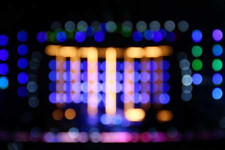 concert background: Blurred background with bokeh lights of concert stage