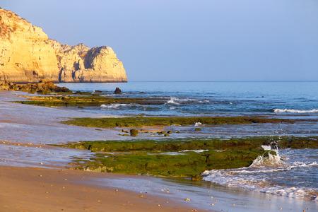 beachfront: Porto de Mos Beach in Lagos, Algarve, Portugal