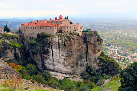 St. Stephens Monastery  and beautiful landscapes of Meteora in autumn, Kalambaka, Greece