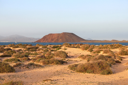 Dunes of Corralejo and Lobos island, Fuerteventura, Canary islands, Spain