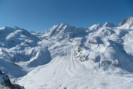 Göner Gletscher im Winter Standard-Bild
