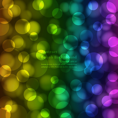 orenge: Abstrack colorful bokeh background