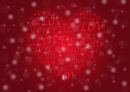 Valentines Day background vector EPS10 Ilustração