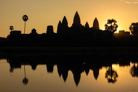 angor: Sunrise at Angor wat in Cambodia