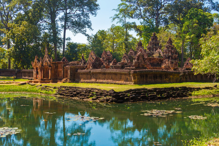 12th century: Banteay Srei Temple, Cambodia