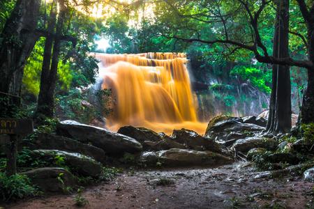 Mittrapharpthai-Laos waterfall in Phusuansai nationalpark, Leoy province, Thailand
