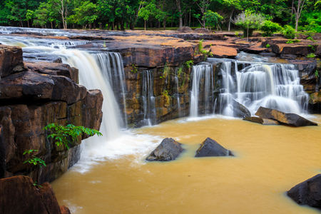 Tat Ton waterfall in Tat-Ton national park in Chaiyaphum province, Thailand