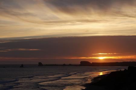Coastal Sunset 写真素材