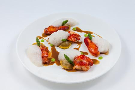 plating: lobster