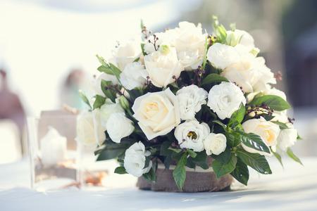 白い花の花束 写真素材