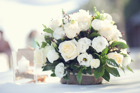 white flower bouquet