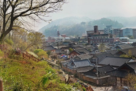 koreans: koreans folk village Editorial