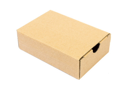 carte: Empty brown paper carte for pakaging product before send to customer by post or deliverly