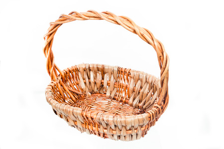 gift basket: Empty baskets made from dried hyacinth for items to bring along a gift or celebration.and this picture is show beside of basket