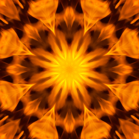 raged: Abstract background blurry the motion of flame raged mandala pattern, power and blazing fire