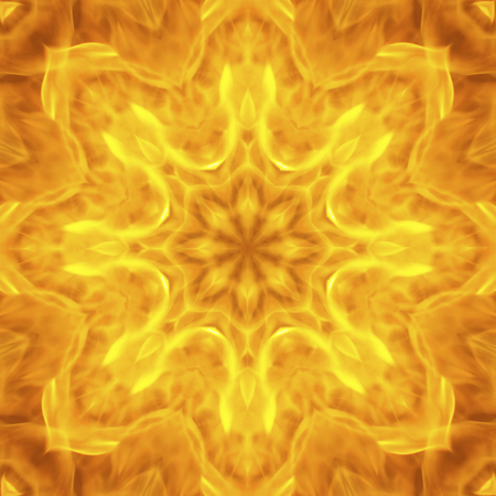raged: Abstract background blurry movement of flame raged on mandala pattern show the power of fervently