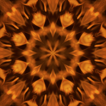 raged: Abstract background blurry motion of flame raged mandala pattern design