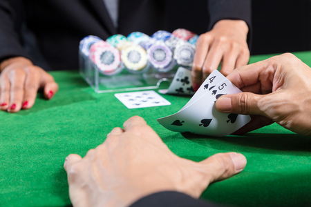 The player is betting card in hand against that of the dealer and The banker In blackjack  surrender when an opponent with superior points win in a card game