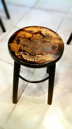 style: Thai Old Style Brown Wood Chair
