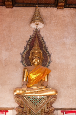 buddha staue thailand in chruch temple photo