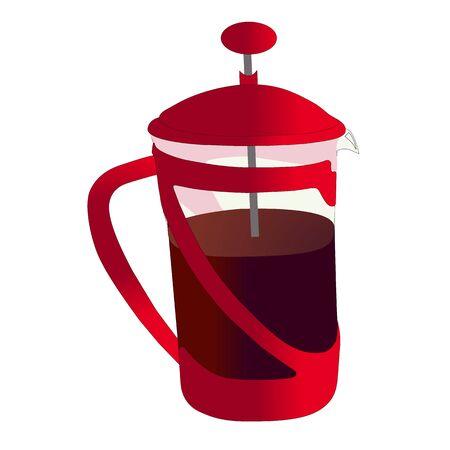 Good red teapot for tea vector Vector Illustration