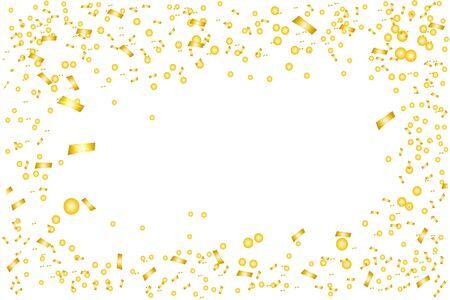 Golden confetti isolated. Confetti burst. Festive vector illustration