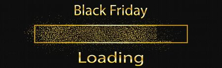 Downloading vector icon black friday Иллюстрация