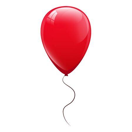 Red balloons. Vector illustration