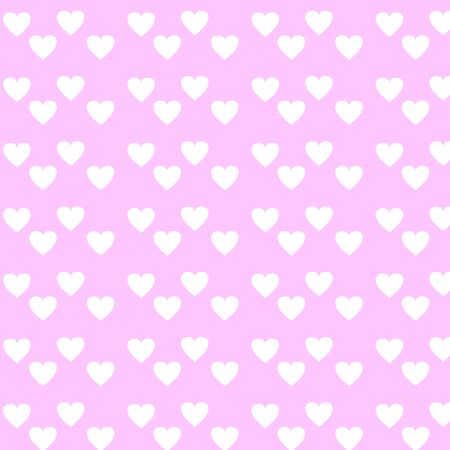 Vector background with hearts. Pink background to decorate the maiden party. Paper design for a little princess. Bright pink abstract pattern for inviting kids.