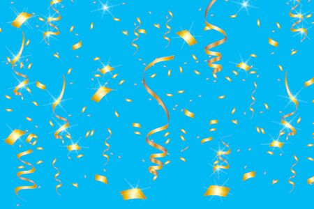 Vector confetti. Festive illustration. Party popper isolated on background